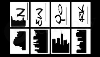 New York Cityscape   Vinyl Wall Art Decal Sticker