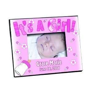 BABY ITS A GIRL PICTURE PHOTO FRAME PERSONALIZED FREE Baby