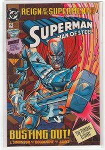 Superman Man of Steel #22 1st appearance of Steel Reign of the