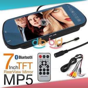 Car Rear View Mirror TFT LCD Bluetooth USB SD MP5