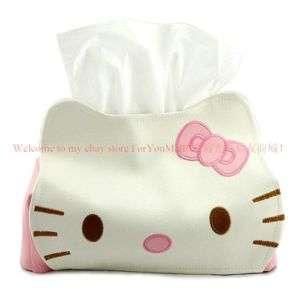 Hello Kitty Leather Plush Box Tissue Cover