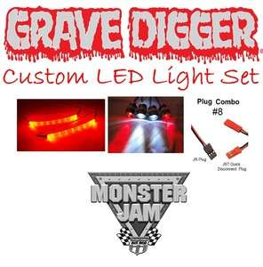 Traxxas Monster Jam Grave Digger Custom LED Light Set (Body Not