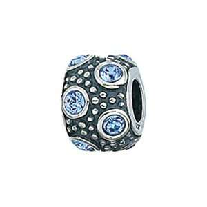 Sterling Silver March Crystal Ball Bead / Charm Finejewelers Jewelry
