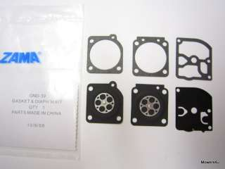 OEM ZAMA CARBURETOR KIT GND 39 FOR HUSQVARNA TRIMMERS
