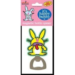 Happy Bunny   Sticking Out Tongue   Magnetic Bottle Opener