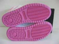 New DC SKATE Girls CUTE Kids SKATE White Pink Shoes 5.5