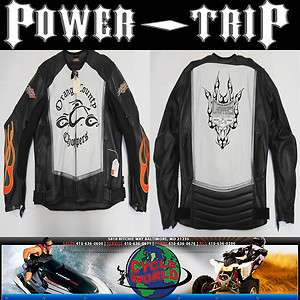 ORANGE COUNTY CHOPPERS LEATHER MOTORCYCLE JACKET POWER TRIP COWHIDE XL