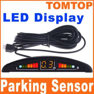 Car LED Display 4 Parking Sensor Reverse backup Radar