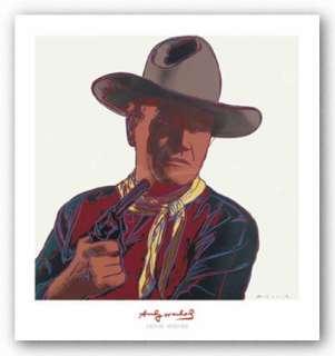ART Cowboys Indians John Wayne 201/250 1986 Andy Warhol