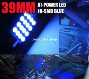 212 2 214 2 2142 Dome Light Interior LED Bulb Blue