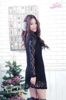 4XL womens elegant rose floral long sleeve lace net dress JB617