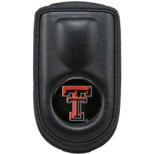 Texas Tech Red Raiders Black Leather Cell Phone Case