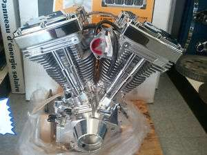 117 Polished Super Sidewinder Motorcycle Engine