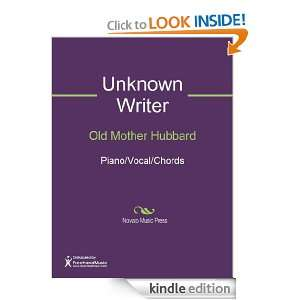 Old Mother Hubbard Sheet Music Unknown Writer  Kindle
