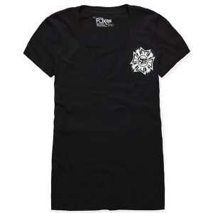 Fox Racing Womens Steel Faith T Shirt   X Small/Black