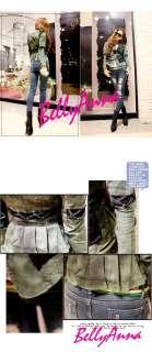 Women Vtg Punk Rock Studded Power Shoulder Denim Jeans Tuxedo Coat