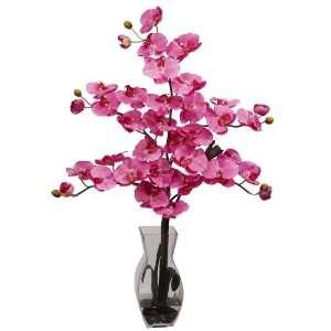 Real Looking Phalaenopsis w/Vase Silk Flower Arrangement