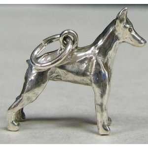 ORB Sterling Silver Akc Dog Charm Doberman Pincher