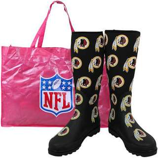 Shoes Washington Redskins Womens Enthusiast Rain Boot