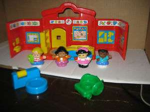 Fisher Price Little People Preschool Set Lot Carry Toy