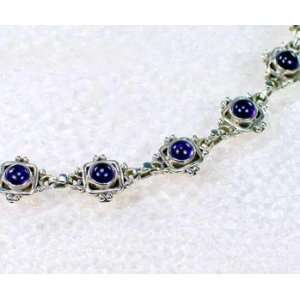Designer Sterling Silver African Amethyst Bracelet Jewelry