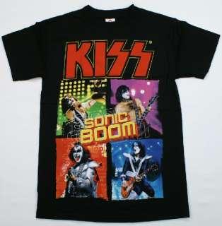 KISS Sonic Boom Album T Shirt Gene Simmons Paul Stanley Rock Music