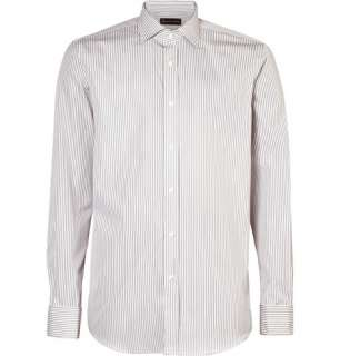 Ralph Lauren Black Label Grey Striped Double Cuff Shirt  MR PORTER