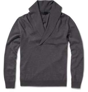 Knitwear  Shawl collar  Shawl Collar Wool Blend Sweater
