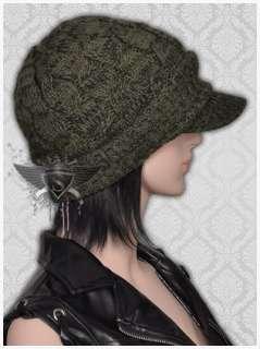Womens Cute Skullcap Casual Warm Cotton Ski Beanie Hat Cap