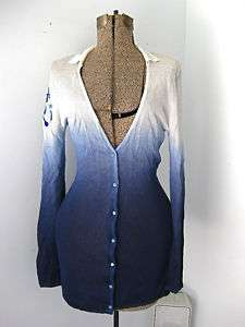 Christian Dior embroidered blue long cardigan sweater 8