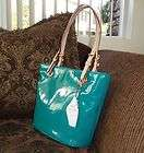 MICHAEL KORS PATENT LEATHER JET SET TOTE AQUA 38T2XTTT2A   NWT 248.00
