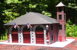 Firehouse Fire Station for Code 3 Fire Trucks   3 Bays