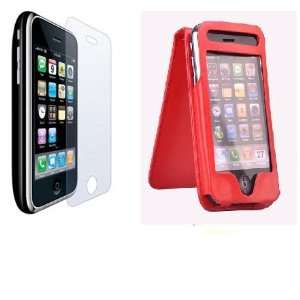 NEEWER® Red PU Leather Flip Skin Case Cover For Apple