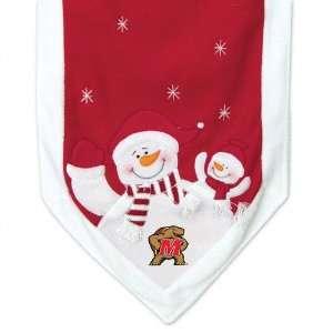 Maryland Terrapins Snowman Table Runner