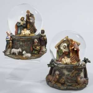 Pack of 4 Musical Religious Holy Family Nativity Christmas