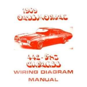 1969 OLDSMOBILE 442 CUTLASS F 85 Wiring Diagrams: Automotive