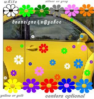flowers daisy hippy wall VW bug beetle car volkswagon |