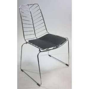 Designer Modern Bertoia Style Stainless Steel Wire Mesh Chair
