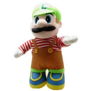 Super Mario Brothers Luigi Brown Costume 15 inch Plush