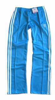 ADIDAS ORIGINALS FIREBIRD TRAININGSHOSE HOSE HELLBLAU/TÜRKIS WEISS