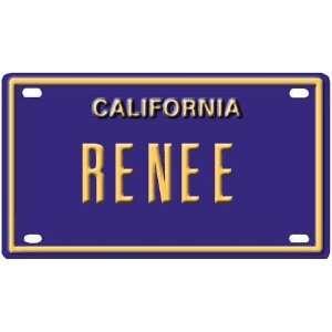 Renee Mini Personalized California License Plate