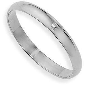 Solid Plain Wedding Band Ring 14K White Gold 2mm