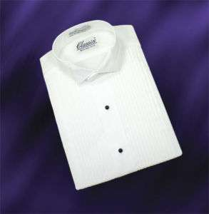16 16.5 36 37 NEW MENS WHITE WING COLLAR TUXEDO SHIRT