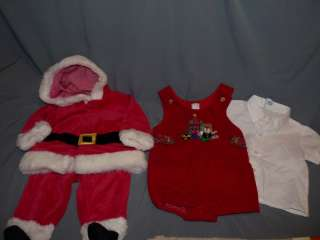 Infant Baby SANTA CLAUS & Christmas Outfits 3pc 3 6/9 M