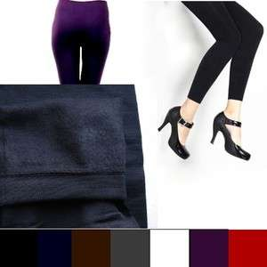 Seamless Thick Fleece lined Leggings Tights Women S/M up to 510