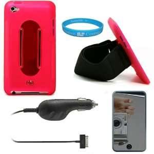 Pink Rubberized Protective Silicone Skin Cover Case with