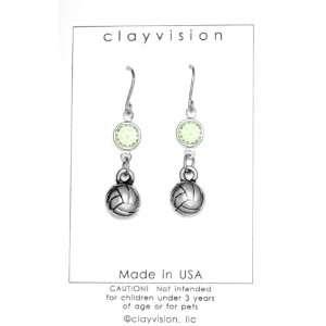 Birthstone/Team Color Swarovski Crystal   Peridot/Light Green   August