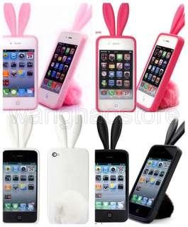 Bunny Rabito TPU Skin Case Cover F iPhone 4 4G Rabbit