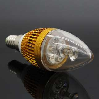 3W 3*1W E14 Power Warm Cool White LED Candle Light Bulb Lamp 110V 220V