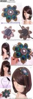 Feather Headband Hair Band Fascinator Flower Peacock